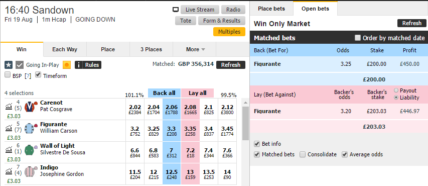 Simple Betfair Scalping on Horse Racing