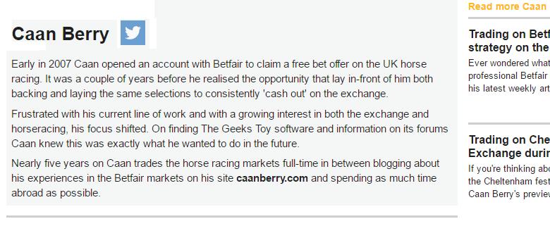 Betfair review Caan