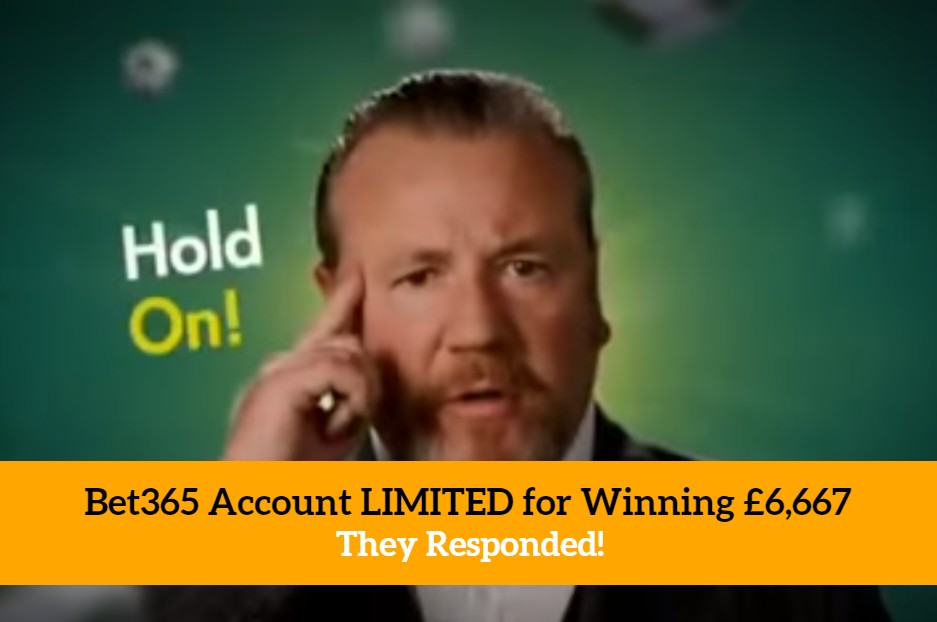 Bet365 Account LIMITED for Winning £6,667 They Responded! -