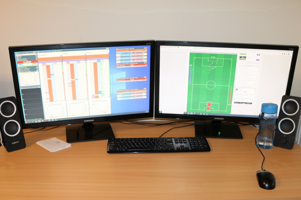 Dual Monitors Football Betting Geeks Toy