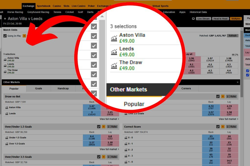 BETFAIR PROFIT PRE MATCH FOOTBALL