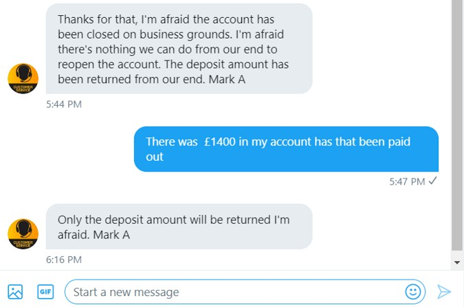 betfair wont pay out
